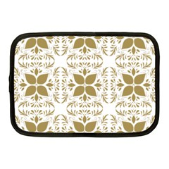 Pattern Gold Floral Texture Design Netbook Case (medium)
