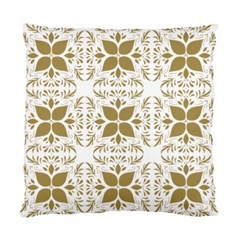 Pattern Gold Floral Texture Design Standard Cushion Case (two Sides)