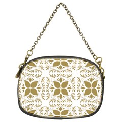Pattern Gold Floral Texture Design Chain Purses (two Sides)
