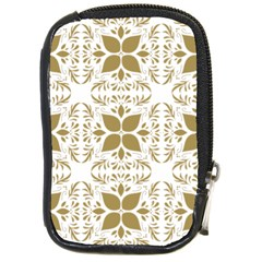 Pattern Gold Floral Texture Design Compact Camera Cases