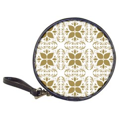 Pattern Gold Floral Texture Design Classic 20-CD Wallets
