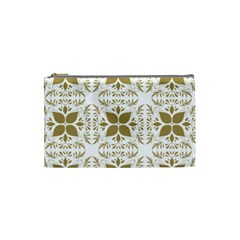 Pattern Gold Floral Texture Design Cosmetic Bag (small)