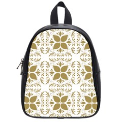 Pattern Gold Floral Texture Design School Bags (small)