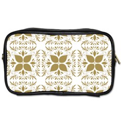 Pattern Gold Floral Texture Design Toiletries Bags