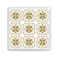 Pattern Gold Floral Texture Design Memory Card Reader (square)