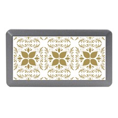 Pattern Gold Floral Texture Design Memory Card Reader (mini)