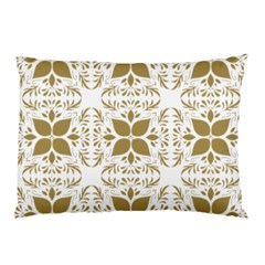 Pattern Gold Floral Texture Design Pillow Case (Two Sides)