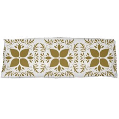 Pattern Gold Floral Texture Design Body Pillow Case Dakimakura (Two Sides)