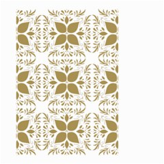 Pattern Gold Floral Texture Design Small Garden Flag (two Sides)