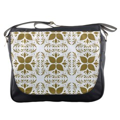 Pattern Gold Floral Texture Design Messenger Bags