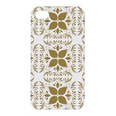 Pattern Gold Floral Texture Design Apple iPhone 4/4S Premium Hardshell Case