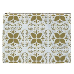 Pattern Gold Floral Texture Design Cosmetic Bag (xxl)
