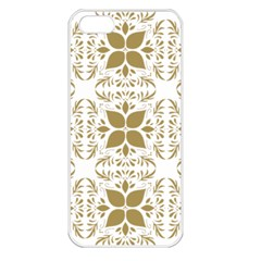 Pattern Gold Floral Texture Design Apple Iphone 5 Seamless Case (white)