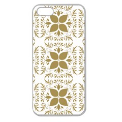Pattern Gold Floral Texture Design Apple Seamless iPhone 5 Case (Clear)