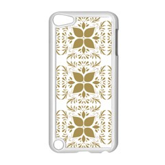 Pattern Gold Floral Texture Design Apple Ipod Touch 5 Case (white)