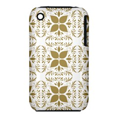 Pattern Gold Floral Texture Design Iphone 3s/3gs