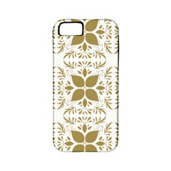 Pattern Gold Floral Texture Design Apple iPhone 5 Classic Hardshell Case (PC+Silicone)