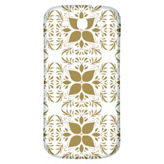 Pattern Gold Floral Texture Design Samsung Galaxy S3 S Iii Classic Hardshell Back Case