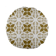 Pattern Gold Floral Texture Design Standard 15  Premium Round Cushions