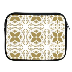 Pattern Gold Floral Texture Design Apple Ipad 2/3/4 Zipper Cases