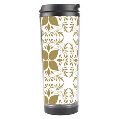 Pattern Gold Floral Texture Design Travel Tumbler
