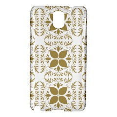 Pattern Gold Floral Texture Design Samsung Galaxy Note 3 N9005 Hardshell Case