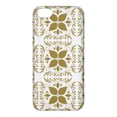 Pattern Gold Floral Texture Design Apple Iphone 5c Hardshell Case