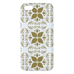 Pattern Gold Floral Texture Design Iphone 5s/ Se Premium Hardshell Case