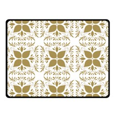 Pattern Gold Floral Texture Design Double Sided Fleece Blanket (small)