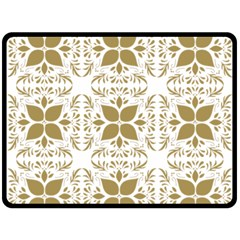 Pattern Gold Floral Texture Design Double Sided Fleece Blanket (large)