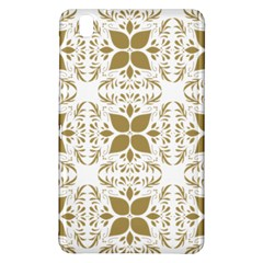 Pattern Gold Floral Texture Design Samsung Galaxy Tab Pro 8 4 Hardshell Case