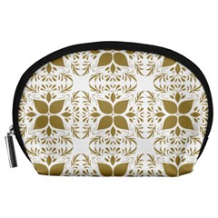 Pattern Gold Floral Texture Design Accessory Pouches (large)