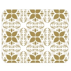 Pattern Gold Floral Texture Design Double Sided Flano Blanket (medium)