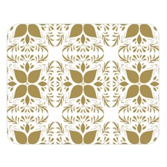 Pattern Gold Floral Texture Design Double Sided Flano Blanket (large)