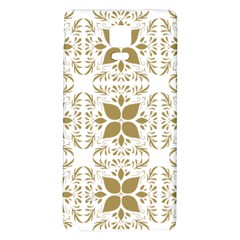 Pattern Gold Floral Texture Design Galaxy Note 4 Back Case
