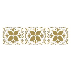 Pattern Gold Floral Texture Design Satin Scarf (oblong)