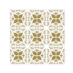 Pattern Gold Floral Texture Design Small Satin Scarf (Square)