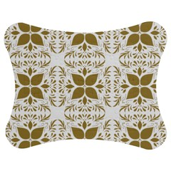 Pattern Gold Floral Texture Design Jigsaw Puzzle Photo Stand (bow)