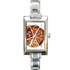 Food Fast Pizza Fast Food Rectangle Italian Charm Watch