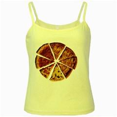 Food Fast Pizza Fast Food Yellow Spaghetti Tank