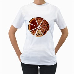 Food Fast Pizza Fast Food Women s T Shirt (white) (two Sided)