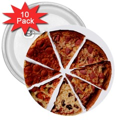 Food Fast Pizza Fast Food 3  Buttons (10 pack)