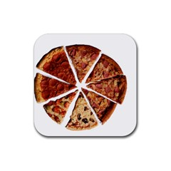 Food Fast Pizza Fast Food Rubber Coaster (square)