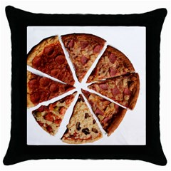 Food Fast Pizza Fast Food Throw Pillow Case (Black)
