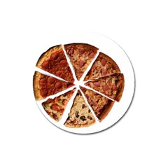 Food Fast Pizza Fast Food Magnet 3  (Round)