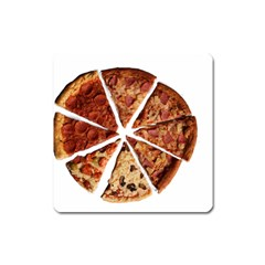 Food Fast Pizza Fast Food Square Magnet