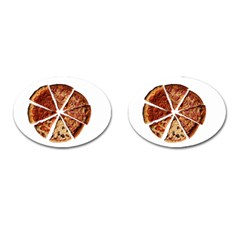 Food Fast Pizza Fast Food Cufflinks (oval)