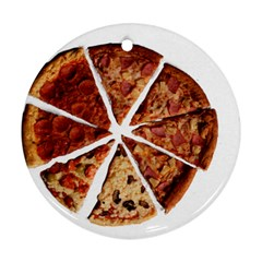 Food Fast Pizza Fast Food Round Ornament (two Sides)