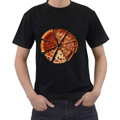 Food Fast Pizza Fast Food Men s T-Shirt (Black)
