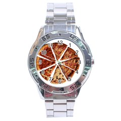 Food Fast Pizza Fast Food Stainless Steel Analogue Watch